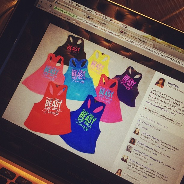 New #trainlikeabeastlooklikeabeauty colors are out! Shopblogilates.com. Hurry these are gonna go quick!!!! (Taken with Instagram)