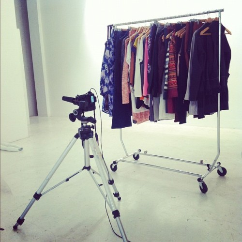Shot some flat lays w @joveeba today. #fashion #clothes #studio #photography (Taken with Instagram)