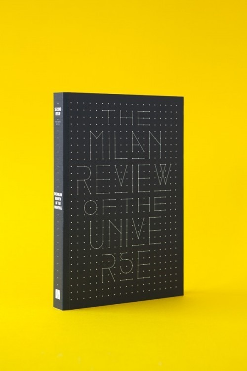 superbruut:  Typeverything.comThe Milan Review of the Universe book cover. -SuperBruut / Facebook / Twitter