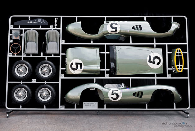 (via 1:1 scale model parts tree of Aston Martin's 1959 Le Mans winner is stunning)