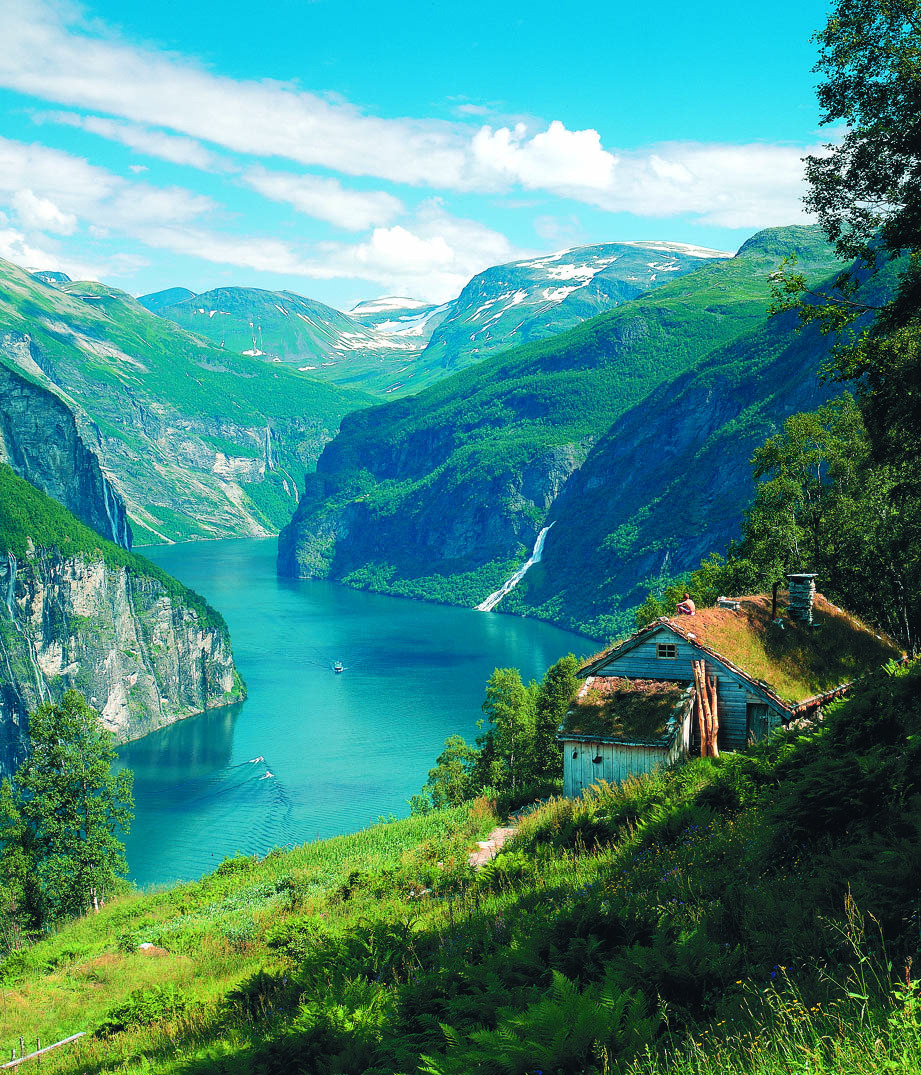 lori-rocks:  Geirangerfjord, Norway. By : Hurtigruten.  Take me there.