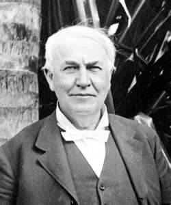 Some words of wisdom from Thomas Edison today…. Anything that won't sell, I don't want to invent. Its sale is proof of utility, and utility is success.Thomas A. Edison    Be courageous. I have seen many depressions in business. Always America has emerged from these stronger and more prosperous. Be brave as your fathers before you. Have faith! Go forward!Thomas A. Edison    Being busy does not always mean real work. The object of all work is production or accomplishment and to either of these ends there must be forethought, system, planning, intelligence, and honest purpose, as well as perspiration. Seeming to do is not doing.Thomas A. Edison    Discontent is the first necessity of progress.Thomas A. Edison    Everything comes to him who hustles while he waits.Thomas A. Edison    Genius is one percent inspiration and ninety-nine percent perspiration.Thomas A. Edison    Great ideas originate in the muscles.Thomas A. Edison    Hell, there are no rules here - we're trying to accomplish something.Thomas A. Edison    His genius he was quite content in one brief sentence to define; Of inspiration one percent, of perspiration, ninety nine.Thomas A. Edison    I am proud of the fact that I never invented weapons to kill.Thomas A. Edison