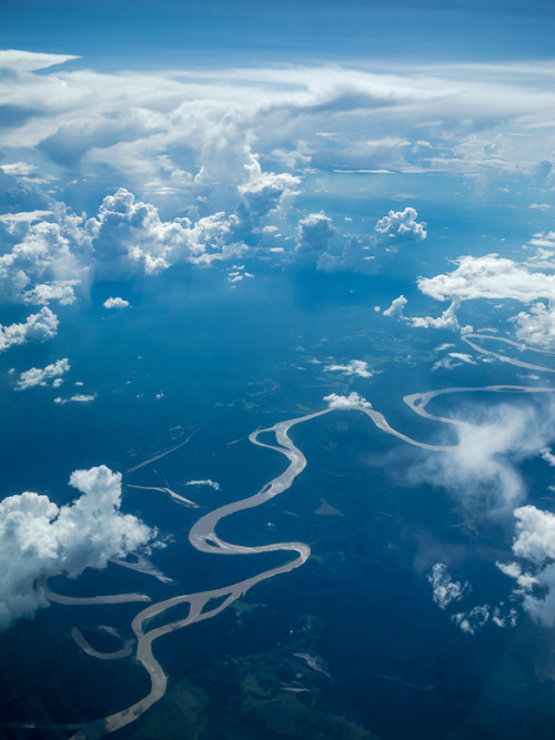 Somewhere over the Amazon River (by Duane Miller)