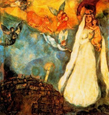 christianfriendly:  Marc Chagall, La virgen de la aldela