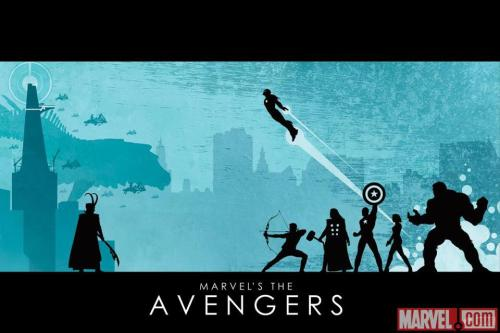 The Avengers poster art by Matthew Ferguson.