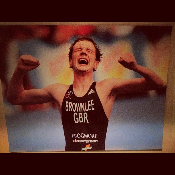 The photo that sits above my desk. A deserving champion. #brownlee  (Taken with Instagram)