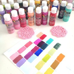 Creating a #paint #craft supplies inventory! #colour #color #decoart #journal #labels  (Taken with Instagram)