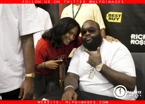 "Felisha Monet and Rick Ross at In Store Signing for ""God Forgives, I Don't"" - NLPGimages - ""We're Everywhere You're Not""  Follow us  Twitter: http://twitter.com/NLPGimages Facebook: http:/facebook.com/NLPGimagesFans Youtube: http://youtube.com/NLPGUnedited"