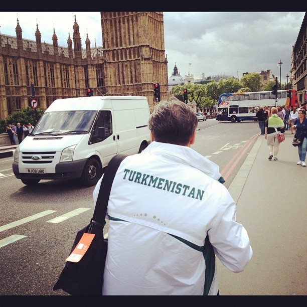 I found the must-have jacket of the London Olympics. Respect  (Taken with Instagram)