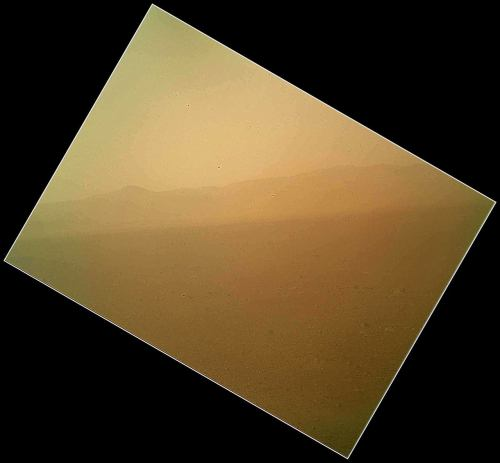 Here it is: the first color image of Mars from the Curiosity rover. Also: NASA releases low-res video of Mars rover descent  (Photo: NASA)