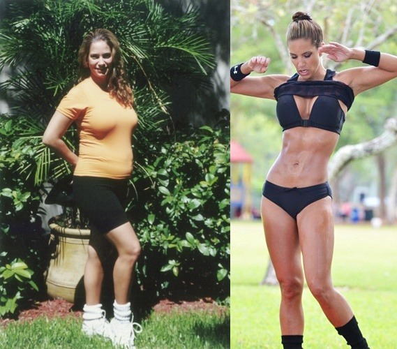 motivationforfitness:  Jennifer Nicole Lee. Before and After.