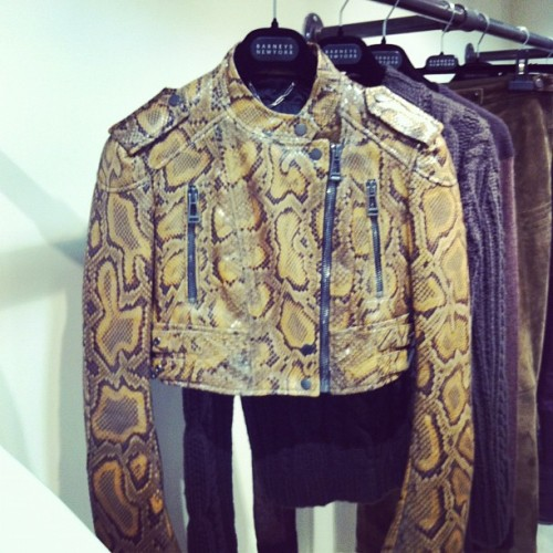 elle:  Hand-painted python @belstaff (Taken with Instagram)