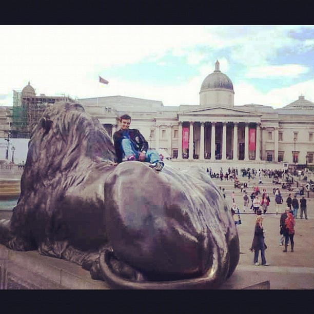#london #trafalgarsquare #england #desi (Taken with Instagram at Trafalgar Square)