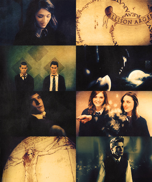 thelionsbride:  AU → Teen Wolf cast in Hogwarts. Something Wicked This Way Comes.