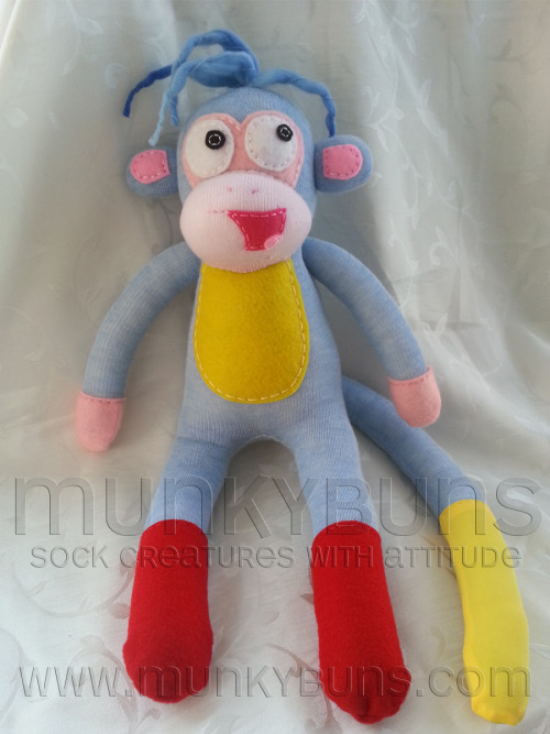 Boots Sock MonkeyCreated by Cherie at Munkybuns Sock Creatures