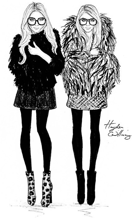 Mary-Kate and Ashley Olsen by Hayden Williams.