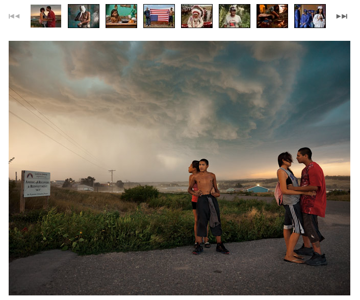 See these stunning National Geographic images from Pine Ridge, the Oglala Sioux Indian Reservation in South Dakota. I volunteered as a coach at a photo camp in Pine Ridge in 2010 and was struck by how much beauty and suffering both exist there. The children of Pine Ridge are especially wonderful as well as vulnerable. It was eye-opening to see how they viewed their worlds through the photography they made, and it was exciting to take them exploring through the outdoors into areas many of them had never been to and to do activities many of them had never tried before.