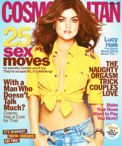 Lucy Hale | September cover of 'Cosmopolitan' Magazine.