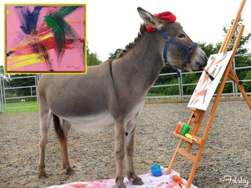 Meet Patty, The World's Most Artistic Donkey - The Frisky