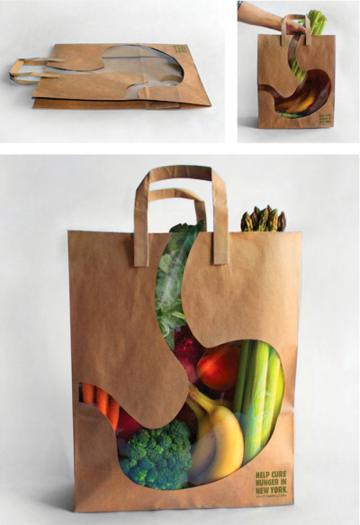 empty stomach bag  (via boredpanda)