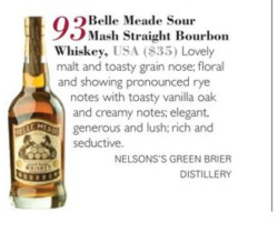 Our first review of #bellemeadebourbon! A rating of 93 from The Tasting Panel!