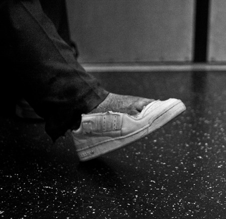 Homeless feet , Manhattan 2012