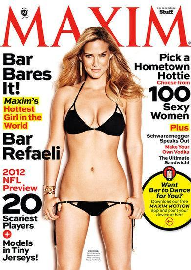 "Supermodel Bar Refaeli has been names ""Hottest Girl in the World"" by Maxim magazine in their September issue! Click the pic to see more of in a bikini and topless!"