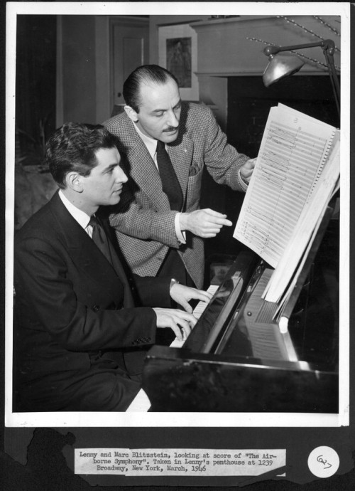 Musical prodigy and composer Marc Blitzstein, the featured guest on this 1941 installment from  WNYC's American Music Festival, increasingly identifies with radical left-wing political movements in the hardscrabble years leading into the Depression. Visit the WNYC Archives to hear a clip.