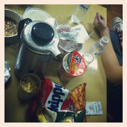 Midnight snack with @micolchong and @ardydavid (Taken with Instagram at CSB Hotel)