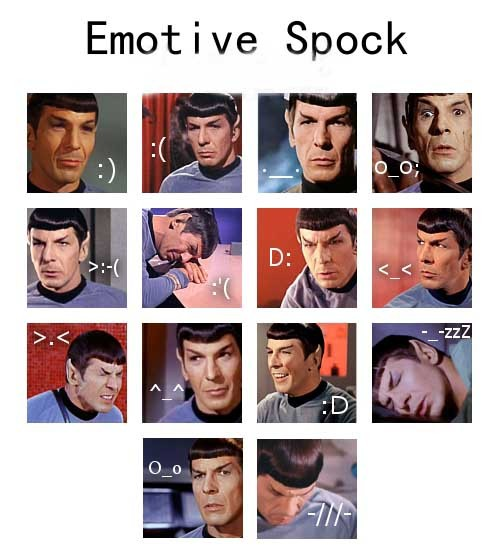 STAR TREK EMOTIVE SPOCK I NEVER KNEW…>.<