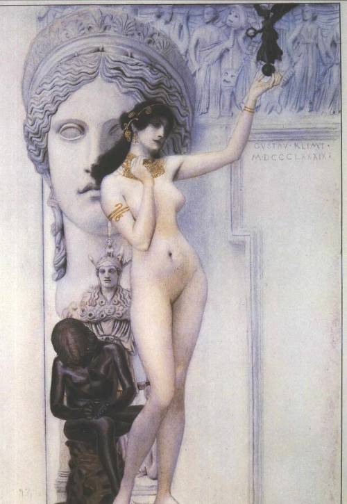 Allegory of Sculpture, Gustav Klimt, 1889.