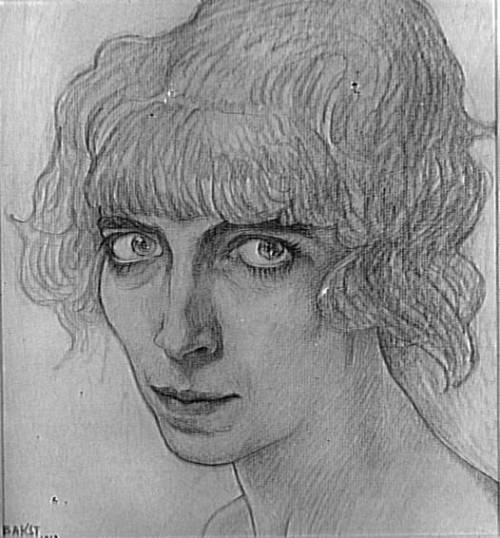 Portrait of the Marchesa Casati, Léon Bakst, 1912.