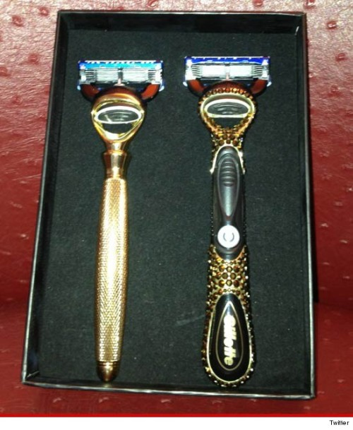 Ryan Lochte's gold and diamond encrusted razors..a gift from Gillette. #jeah (via Ryan Lochte — Pimped Out & Razor Sharp | TMZ.com)