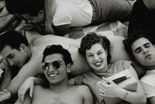 Coney Island, Brooklyn, NY, c. 1949. by Harold Feinstein. (ccny)