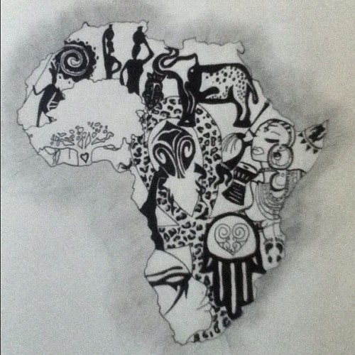 darealbrittneyh:  The left rib piece I designed for myself #Africa #tattoo  (Taken with Instagram)