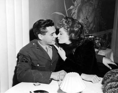 Desi Arnaz and Lucille Ball. 1944.