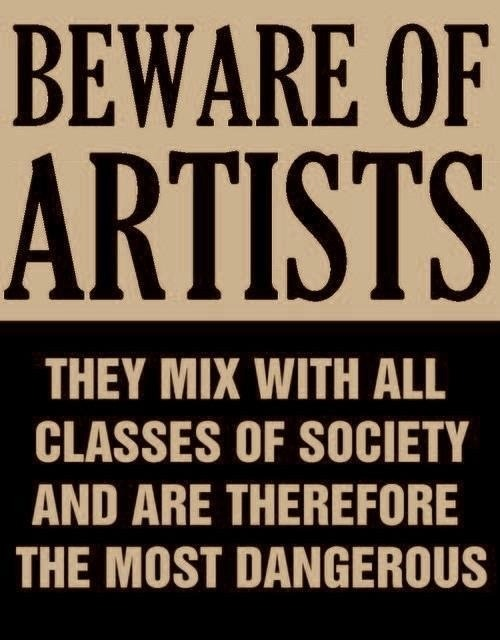 Actual poster from the mid-50's issued by Senator Joseph McCarthy at the height of the Red Scare and anti communist witch hunt in Washington. All artists were suspect.