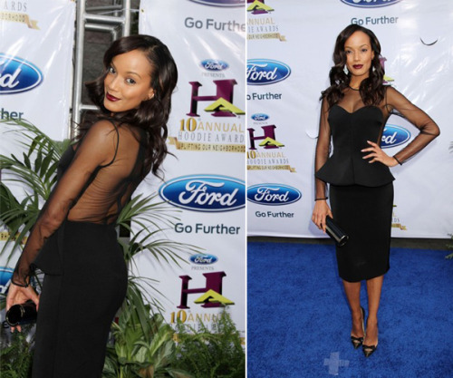 Get the Look: Selita Ebanks Rocks A Vampy Lip At The 2012 Hoodie Awards (Get Her Berry-Stained Pucker!)