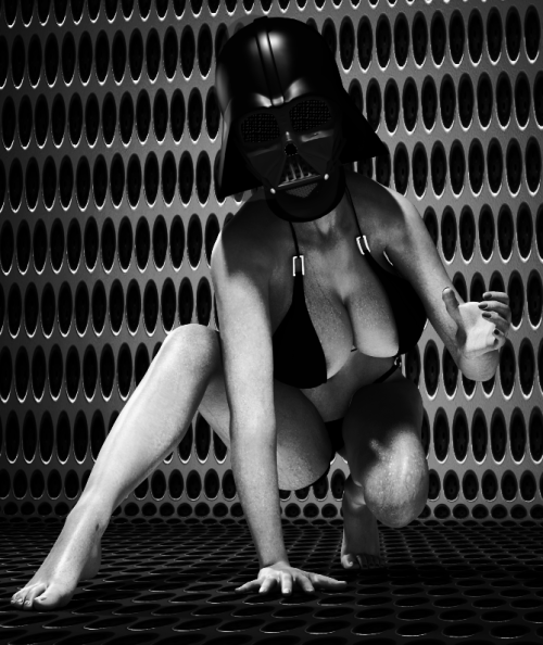"naomi-vonkreeps:  tygbob:  ""Darth Babe""  by TygBob A little present for Naomi.. thanks for the cleavage :)  Thank you! Love the force choke. haha!!"