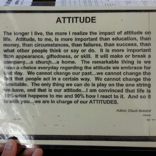 Attitude is everything! #quotes #motivation #attitude (Taken with Instagram)