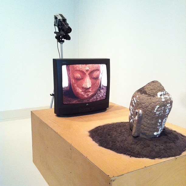 Nam June Paik- Buddha Watching TV,  (1974/1977)