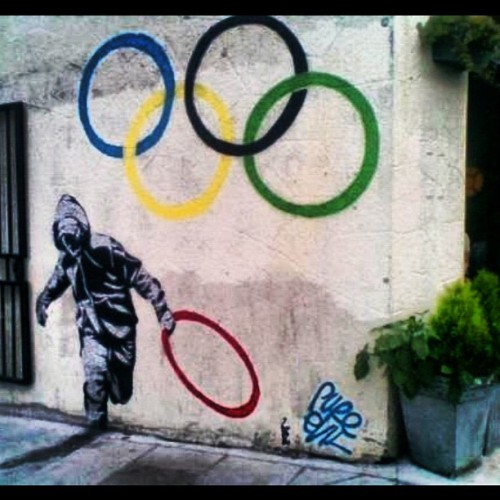 Nice #Grafitti #olympics #london #streetArt #photoftheday (Taken with Instagram)