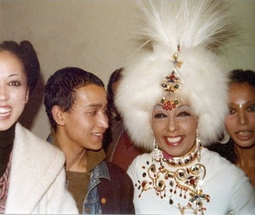 pat cleveland, juan ramos, josephine baker and donyela luna in rome in the ear;y 1970s