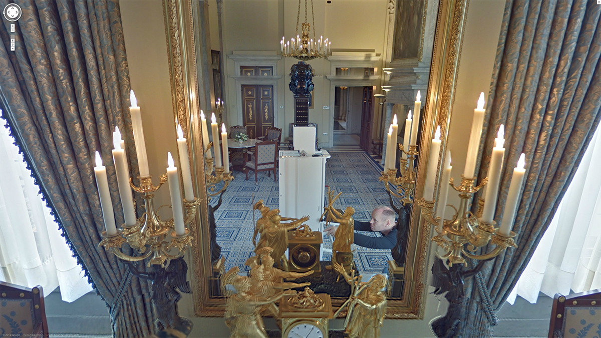 Mirrors Behind the Curtain: Royal Palace of Amsterdam, Google Museum View Screenshot, ~Googlegeist ~