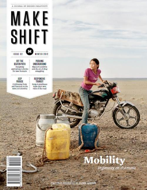 "Huh. Motorcycles. Huh. I dig it. coverjunkie:  Makeshift (US) Cover href=""http://www.mkshft.org"">Makeshift magazine:a quarterly about innovation in informal economies around the world (think roadside engineers, pirates, hackers, street vendors, etc.)Art Directed by Santos HenarejosEdited by Steve Daniels"