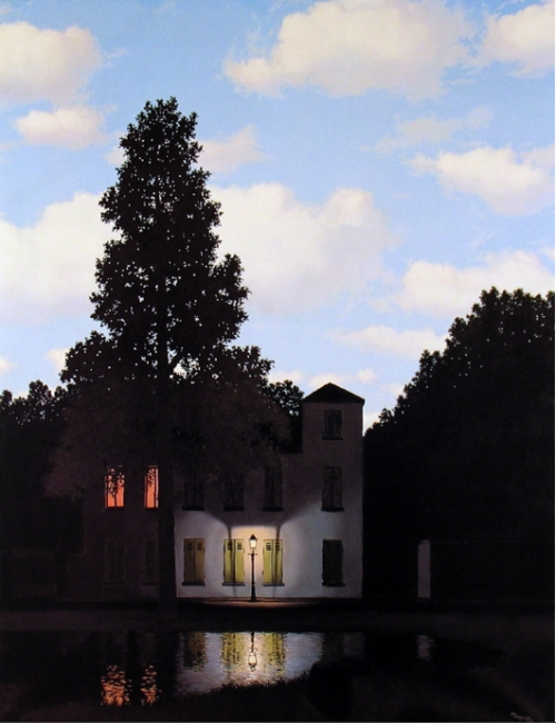 two-spirits:  - Renè Magritte, L'Empire des lumières (Empire of Light), 1953/54.