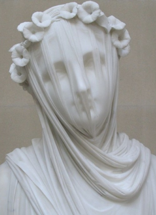 beatrixspoke:  saaaaaasha:  hey guys that is carved  from MARBLE THAT IS A ROCK  WAT  I have no idea how the artist manages to make it looks like not just cloth, but TRANSPARENT cloth. Amazing.