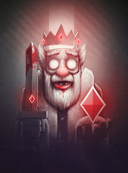 (via King of Doom Art Print by Dr. Lukas Brezak | Society6)