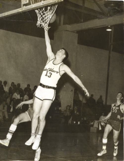 This 60s photo of Pat Conroy takes us to a different era of basketball (and basketball shorts.)