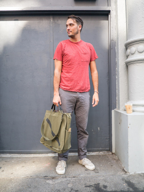 Colin, Crosby st, NYC. Saturdays x Porter Tote Bag.  Read more here….